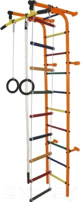 Детский спортивный комплекс Формула здоровья Забияка-1А Плюс (оранжевый/радуга)