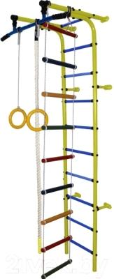 Детский спортивный комплекс Формула здоровья Забияка-1А Плюс (желтый/синий)