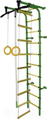 Детский спортивный комплекс Формула здоровья Забияка-1А Плюс (зеленый/желтый)