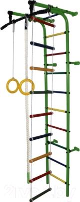 Детский спортивный комплекс Формула здоровья Забияка-1А Плюс (зеленый/радуга)