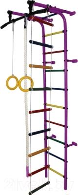 Детский спортивный комплекс Формула здоровья Забияка-1А Плюс (фиолетовый/радуга)