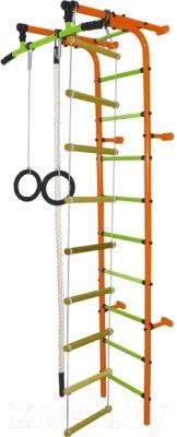 Детский спортивный комплекс Формула здоровья Забияка-1А Плюс (оранжевый/салатовый)