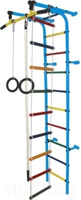 Детский спортивный комплекс Формула здоровья Забияка-1А Плюс (голубой/радуга)