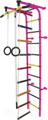 Детский спортивный комплекс Формула здоровья Забияка-1А Плюс (розовый/радуга)