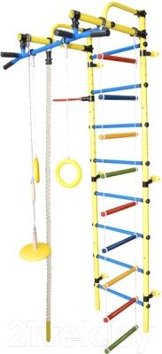Детский спортивный комплекс Формула здоровья Лира-3К Плюс (желтый/синий)
