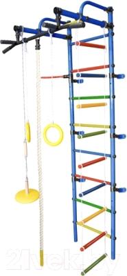 Детский спортивный комплекс Формула здоровья Лира-3К Плюс (синий/радуга)