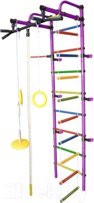 Детский спортивный комплекс Формула здоровья Лира-3К Плюс (фиолетовый/радуга)