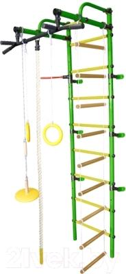 Детский спортивный комплекс Формула здоровья Лира-3К Плюс (зеленый/желтый)