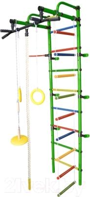 Детский спортивный комплекс Формула здоровья Лира-3К Плюс (зеленый/радуга)