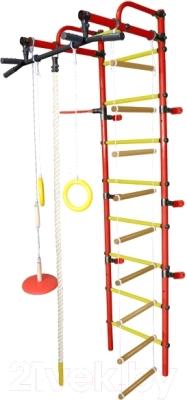 Детский спортивный комплекс Формула здоровья Лира-3К Плюс (красный/желтый)