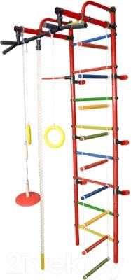 Детский спортивный комплекс Формула здоровья Лира-3К Плюс (красный/радуга)