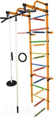 Детский спортивный комплекс Формула здоровья Лира-3К Плюс (оранжевый/радуга)