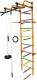 Детский спортивный комплекс Формула здоровья Лира-3К Плюс (оранжевый/радуга) -