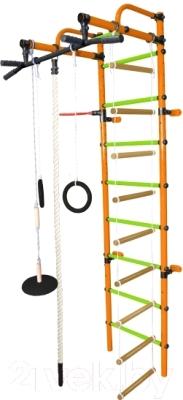 Детский спортивный комплекс Формула здоровья Лира-3К Плюс (оранжевый/салатовый)