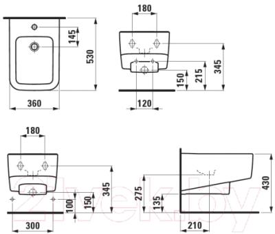 Биде подвесное Laufen Pro-S 8309610003021
