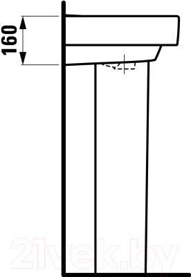 Умывальник настенный Laufen Pro 8189590001091