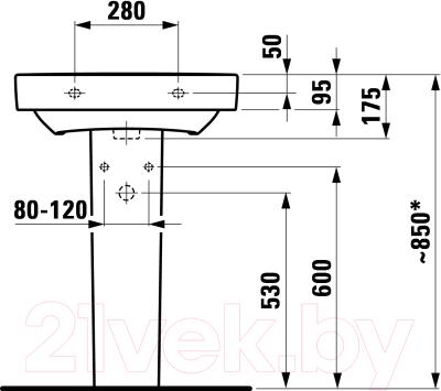 Умывальник Laufen Pro 8189590001091