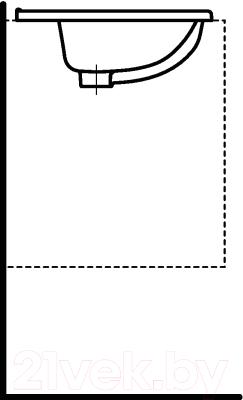 Умывальник встраиваемый Laufen Pro 8139610001041