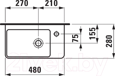 Умывальник Laufen Pro S 8159550001041