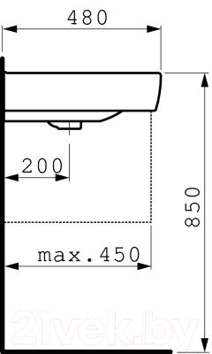 Умывальник настенный Laufen Pro 8189530001041