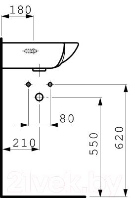 Умывальник настенный Laufen Pro 8169560001041