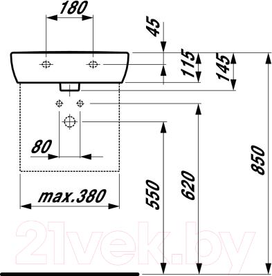 Умывальник настенный Laufen Pro 8119510001041