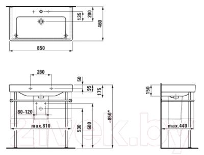 Умывальник Laufen Pro S 8139650001041