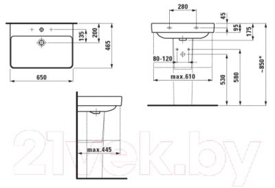 Умывальник настенный Laufen Pro S 8109670001041