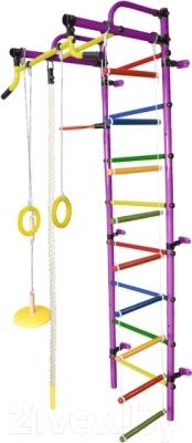 Детский спортивный комплекс Формула здоровья Лира-2К Плюс (фиолетовый/радуга)