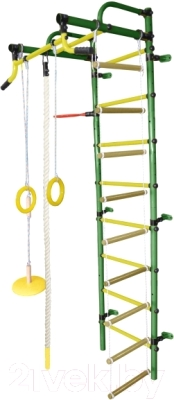 Детский спортивный комплекс Формула здоровья Лира-2К Плюс (зеленый/желтый)