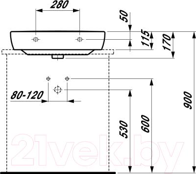 Умывальник Laufen Pro 8179520001041