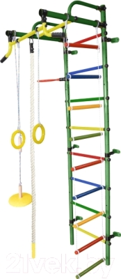 Детский спортивный комплекс Формула здоровья Лира-2К Плюс (зеленый/радуга)
