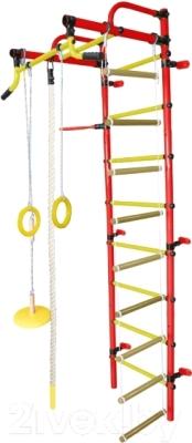 Детский спортивный комплекс Формула здоровья Лира-2К Плюс (красный/желтый)