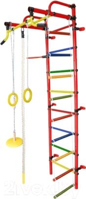 Детский спортивный комплекс Формула здоровья Лира-2К Плюс (красный/радуга)