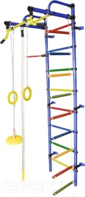 Детский спортивный комплекс Формула здоровья Лира-2К Плюс (синий/радуга)