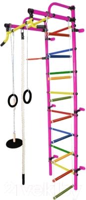 Детский спортивный комплекс Формула здоровья Лира-2К Плюс (розовый/радуга)