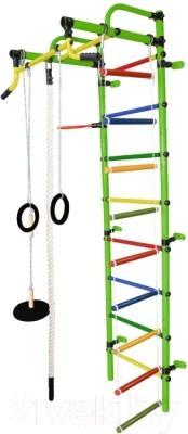 Детский спортивный комплекс Формула здоровья Лира-2К Плюс (салатовый/радуга)