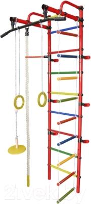 Детский спортивный комплекс Формула здоровья Лира-1К Плюс (красный/радуга)