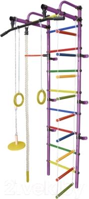 Детский спортивный комплекс Формула здоровья Лира-1К Плюс (фиолетовый/радуга)