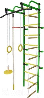 Детский спортивный комплекс Формула здоровья Лира-1К Плюс (зеленый/желтый)