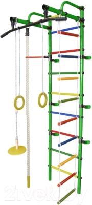 Детский спортивный комплекс Формула здоровья Лира-1К Плюс (зеленый/радуга)