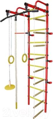 Детский спортивный комплекс Формула здоровья Лира-1К Плюс (красный/желтый)