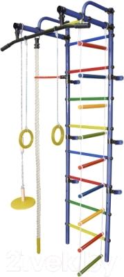 Детский спортивный комплекс Формула здоровья Лира-1К Плюс (синий/радуга)