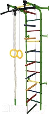 Детский спортивный комплекс Формула здоровья Журавлик-1А Плюс (зеленый/радуга)