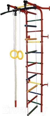 Детский спортивный комплекс Формула здоровья Журавлик-1А Плюс (красный/радуга)