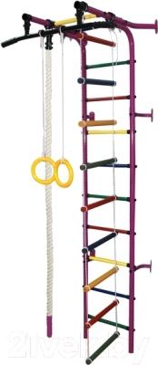 Детский спортивный комплекс Формула здоровья Журавлик-1А Плюс (фиолетовый/радуга)
