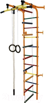 Детский спортивный комплекс Формула здоровья Журавлик-1А Плюс (оранжевый/радуга)