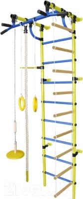 Детский спортивный комплекс Формула здоровья Гамма-3К Плюс (желтый/синий)
