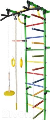Детский спортивный комплекс Формула здоровья Гамма-3К Плюс (зеленый/радуга)
