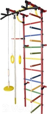 Детский спортивный комплекс Формула здоровья Гамма-3К Плюс (красный/радуга)